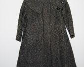 SALE........Vintage Coat 50s Swinging Wool Tweed