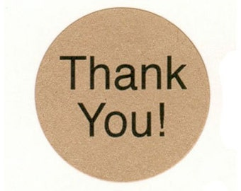 """63 THANK YOU!  ~ 1"""" Stickers . Choice of Color"""