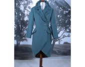 SALE Teal Coat Trench No 2 Winter sale 2015