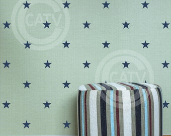 """Set of 48 Stars 3"""" YOU CHOOSE COLOR vinyl lettering wall decal stickers"""