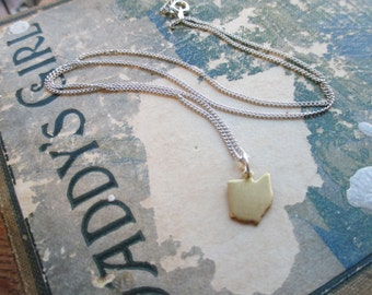 The Sherri Necklace - Tiny Ohio Charm Necklace
