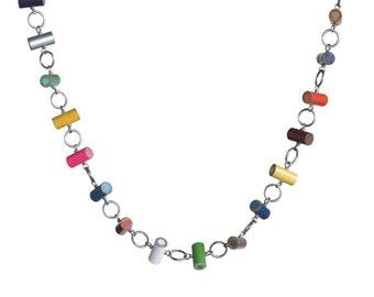Colored pencil circle necklace