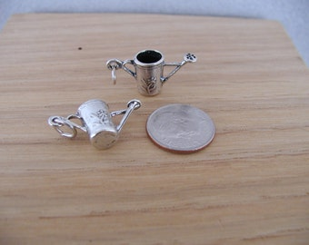 Watering Garden Can Sterling Silver Charm