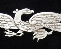 Celtic Eagle Brooch Pin - Celtic Jewelry in Fine Pewter by Treasure Cast Pewter