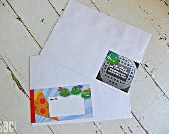 TMNT Address Wraps...Set of 12 TMNT Wraps. Envelopes NOT included.