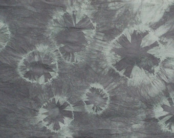Shibori dyed cotton fabric