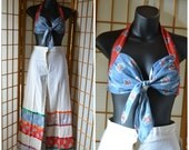 60s halter top and flared high waist pants womens size xsmall / small