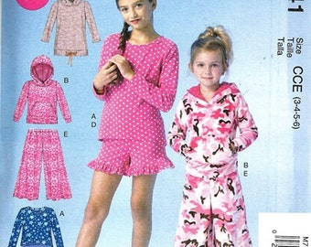 GIRLS CLOTHES PATTERN / Make Dress - Tops - Hoodie - Pants - Shorts / Size 3-6 or 7-14