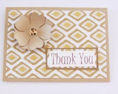 Boho Thank You Card, Floral Thank You Card