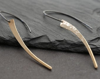 Tusk Earrings- Gold & Sterling
