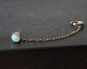 Opal Chain Ear Cuff