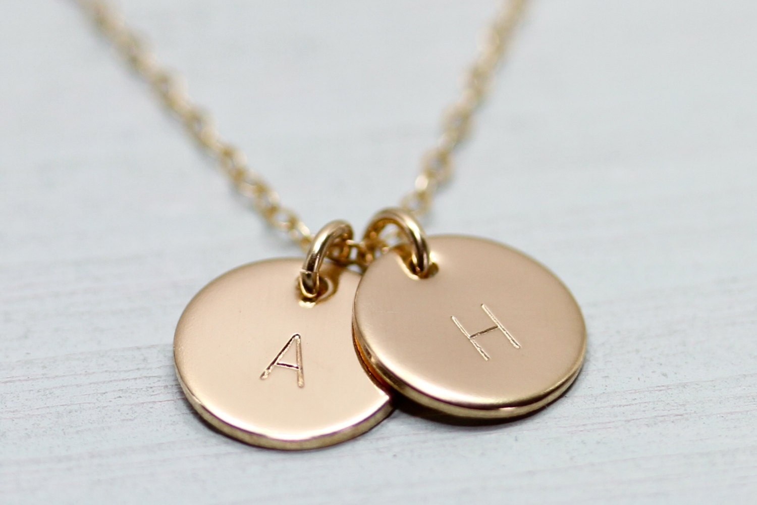 initial necklace dainty gold necklace disc necklace. Black Bedroom Furniture Sets. Home Design Ideas