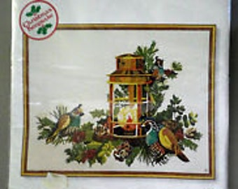 "Sunset Stitchery ""Evergreen and Quail"" Kit Number 2081"