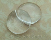 30 Pcs 18mm Glass Circle Cabochons 18 mm (09-11-660)