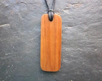 "Natural Wood Pendant - Apple/Quert - Unique ""Secret Sigil"" Ogham Design."