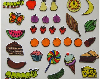 Hungry Caterpillar Felt Board Story Set.  Bright and Colorful pieces.