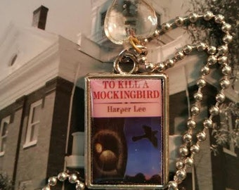 To Kill a Mockingbird resin pendant book cover