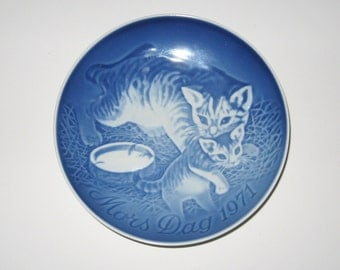 Bing and Grondahl Mothers Day Plate 1971 Cats