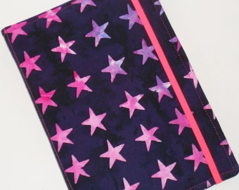 Kindle Cover Hard cover, Kindle Case, Nook Case, Nook HD 7, Kindle Paperwhite, Samsung cover, all sizes, Neon Stars eReader Cover