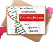 Science Valentines Day Card - Funny Valentine DNA Biology Geeky Love