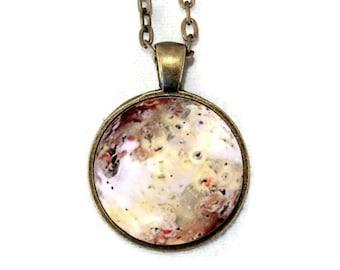 Io Moon Galaxy Necklace - Jupiter Galilean Moons - Science Jewelry