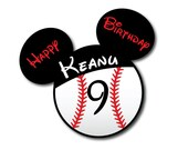 BASEBALL Birthday Mouse Head Magnet for Disney Cruise Ship Door