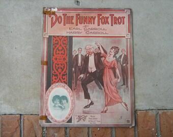 1914 sheet music  (  do that funny fox trot   )