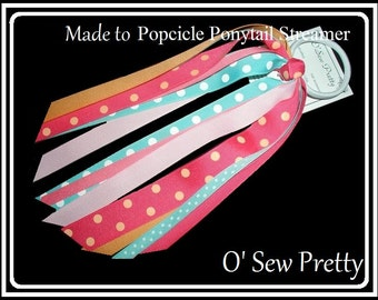 PONYTAIL HOLDERS, Ponytail Streamer, Made to match Ponytail Streamers, Hair accessorie, Elastic ponytail holders, Ribbon hair ties,