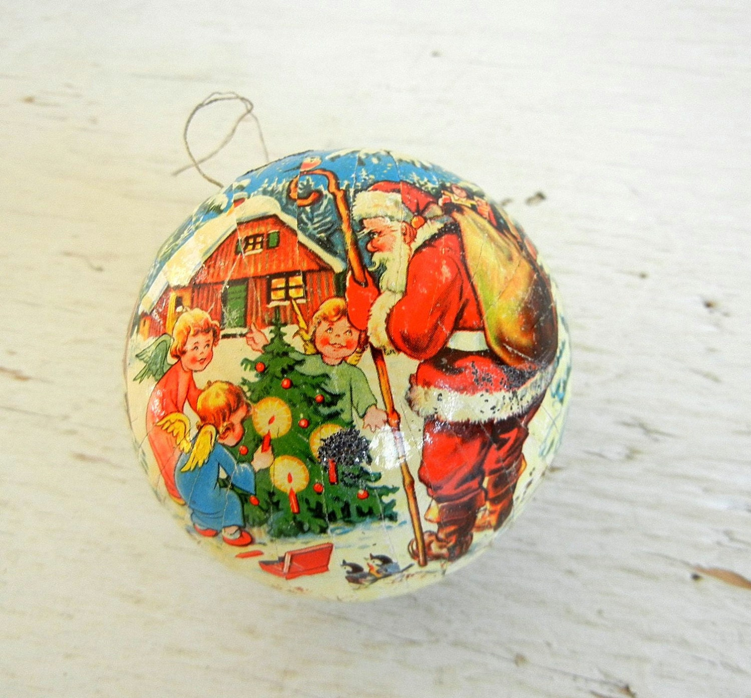 Vintage Christmas Ornament German Paper Mache By