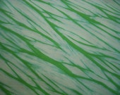 Green Shibori Fabric, Hand Dyed Organic Cotton Sea Green Half Yard