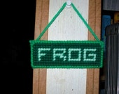 FROG Fully Rely on God Hanging Mini-Sign, Plastic Canvas