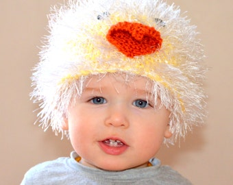 Crochet chick hat. All sizes available!
