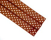 Pattern Magnet - Chart Keeper Magnetic Bookmark - Knitting Crochet Supplies Tools - Set of 3 - Polka Dots (Brown)