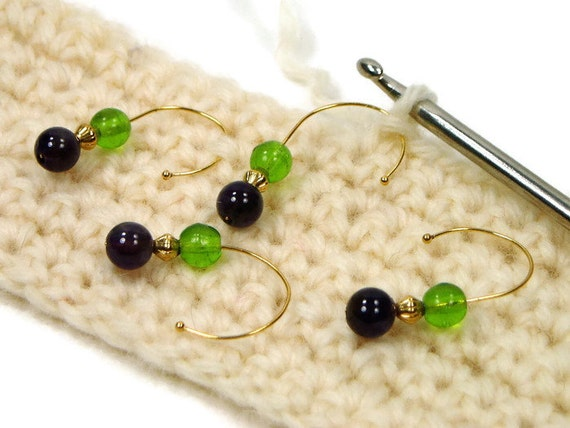 Crochet Stitch Markers Diy : Removable Stitch Markers Set, DIY Crochet, Snag Free Stitch Markers ...