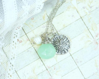 Sand Dollar Jewelry Nautical Necklace Beach Jewelry Sand Dollar Necklace Ocean Jewelry Beach Necklace