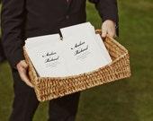 Printable Wedding Program - Black & White Wedding Program - Instant Download - PDF Wedding Program - Black Calligraphy - Order of Service