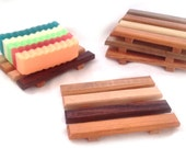 18 handcrafted natural wood soap dishes - mini bulk order at LOW discounted pricing - LIMITED time only