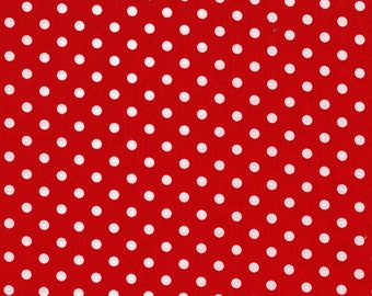 Dumb Dot Red Michael Miller Fabric 1 Yard