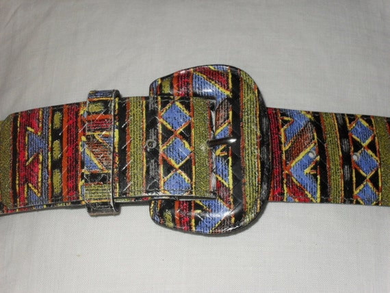 Vintage 80s Belt South Western American Indian Style Size S