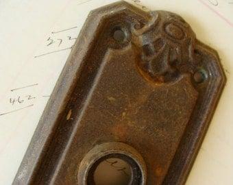 Vintage Antique Salvaged Skeleton Door Escutcheon Door Plate hardware