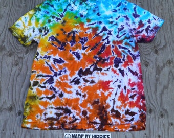 Cosmic Starfield Scrunch Tie Dye V-neck T-Shirt (Bella Canvas Size 2XL) (One of a Kind)