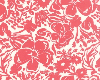 Coral Pink Paradiso Fabric - Moda - Kate Spain - 27200 31