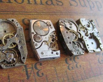 Featured - Steampunk supplies - Watch movements - Vintage Antique Watch movements Steampunk - Scrapbooking r5