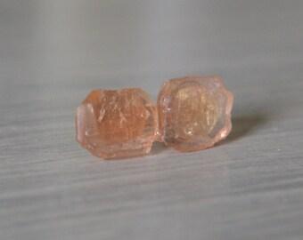 Imperial Topaz Raw Nugget Earrings November Birthstone