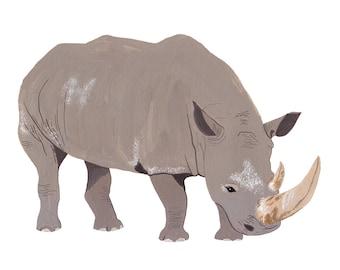 Rhinocerous Card