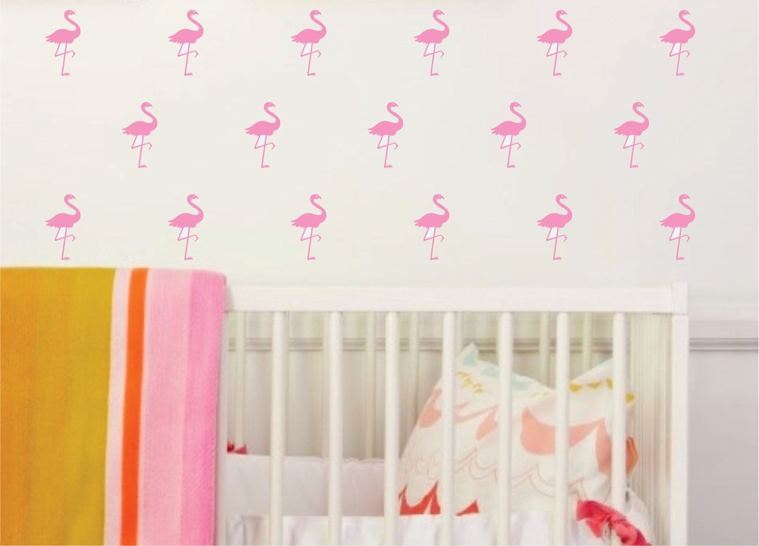 pink flamingo wall decal mini size wall decals tropical zoom