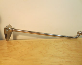Vintage Industrial Towel Bars Heavy duty Chrome with age jewelry Bar Laundry Room Bar 1930s