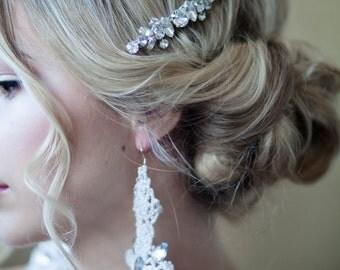 Large Rhinestone Crystal Hair Comb