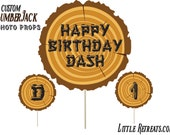 Lumberjack Party Photo Props. Lumber Jack Birthday Photobooth Props. Lumberjack Birthday