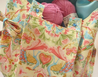 KNITTING BAG APRON - Ready To Sew - Luana Rubin Joie de Vivre for Kaufman Fabric